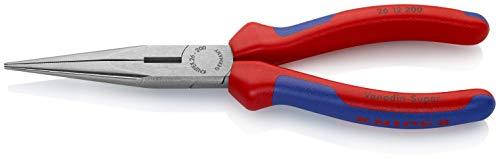 Knipex 26 12 200 Flachrundzange mit Schneide – Storchschnabelzange