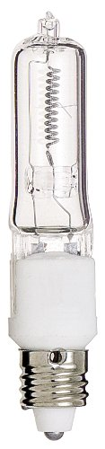 Satco S3162 120V 50-Watt T4 E11 Base Light Bulb, Clear