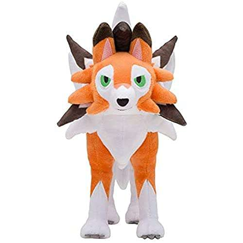 D-Khaleesi Lycanroc (Dusk Form) Figure Animal Toys Plush Doll 10 inches Xmas Gift