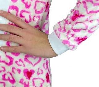 B1717 Pijama entero para niños de felpa modelo BÚHO UNISEX 4 a 14 años - Rosa, 12 años