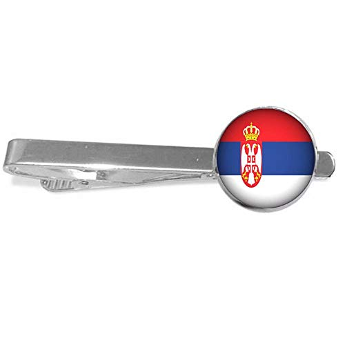 Xubu Nationaal Symbool Vlag Sieraden, Servische Vlag Tie Clips, Nationale Vlag Tie Clips