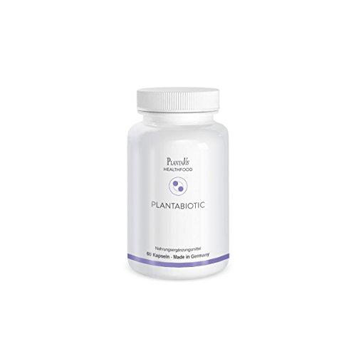 PlantaVis PlantaBiotic, Probiotika mit Bifido- und Laktobakterrein, zur Unterstützung einer gesunden Darmflora in magensaftresistenten Kapseln, hoch wirksam, Monatspackung, 37 g