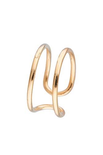 Córdoba Jewels | Anillo en Plata de Ley 925 bañada en Oro con diseño Encuentro Gold
