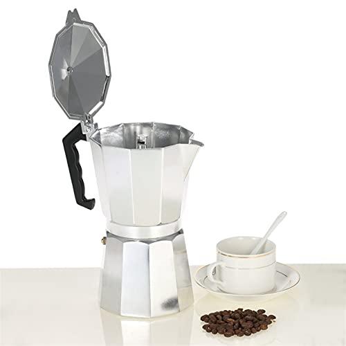 Cafetera de aluminio 50ml 1cup cafetera café expreso percolador estufa moca olla eléctrica estufa de moda