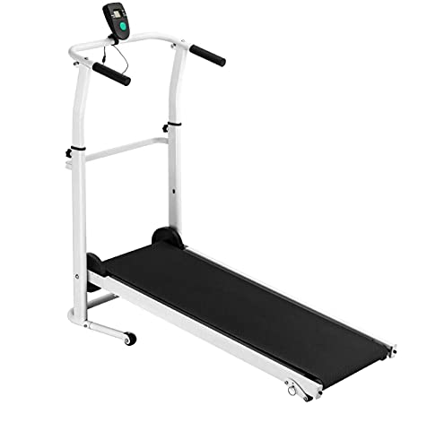 YQEU DigitalFolding Treadmill Walking Running Exercise Manual Treadmill Slope Adjustment with LCD Display for Cardio Fitness Workout 120KG Capacity