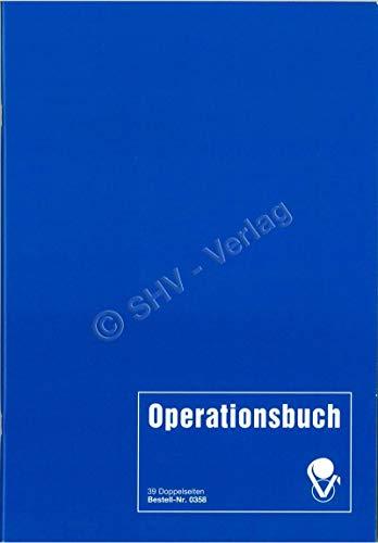 Operationsbuch zur Dokumentation von erfassungspflichtigen Operationen, A4, 80 Seiten