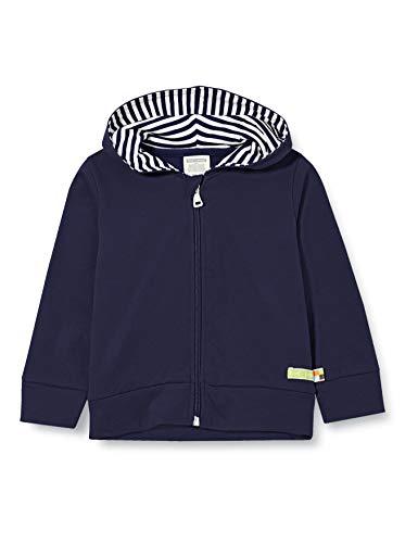 loud + proud Unisex Kinder Kapuzenjacke, GOTS Zertifiziert Jacke, Navy, 86-92