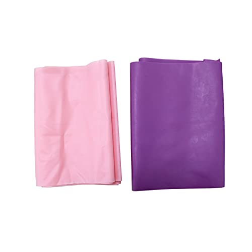 MITSUGAWA 2 PCS Resistance Bands,2 Resistenze Livelli di Resistenza Skin-Friendly Exerciece Bands Elastic,Use for Yoga Pilates, Training, Physio, Stretch, Home Gym,Pink&Purple