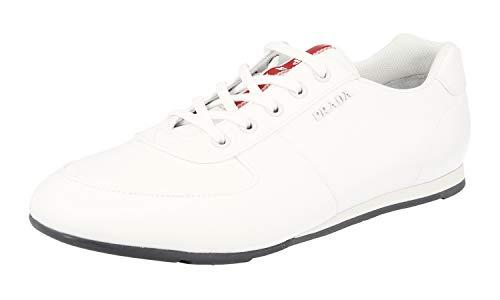 Prada Herren Weiss Nylon Sneaker 4E3245 OQ6 F0009 44.5 EU/UK 10.5
