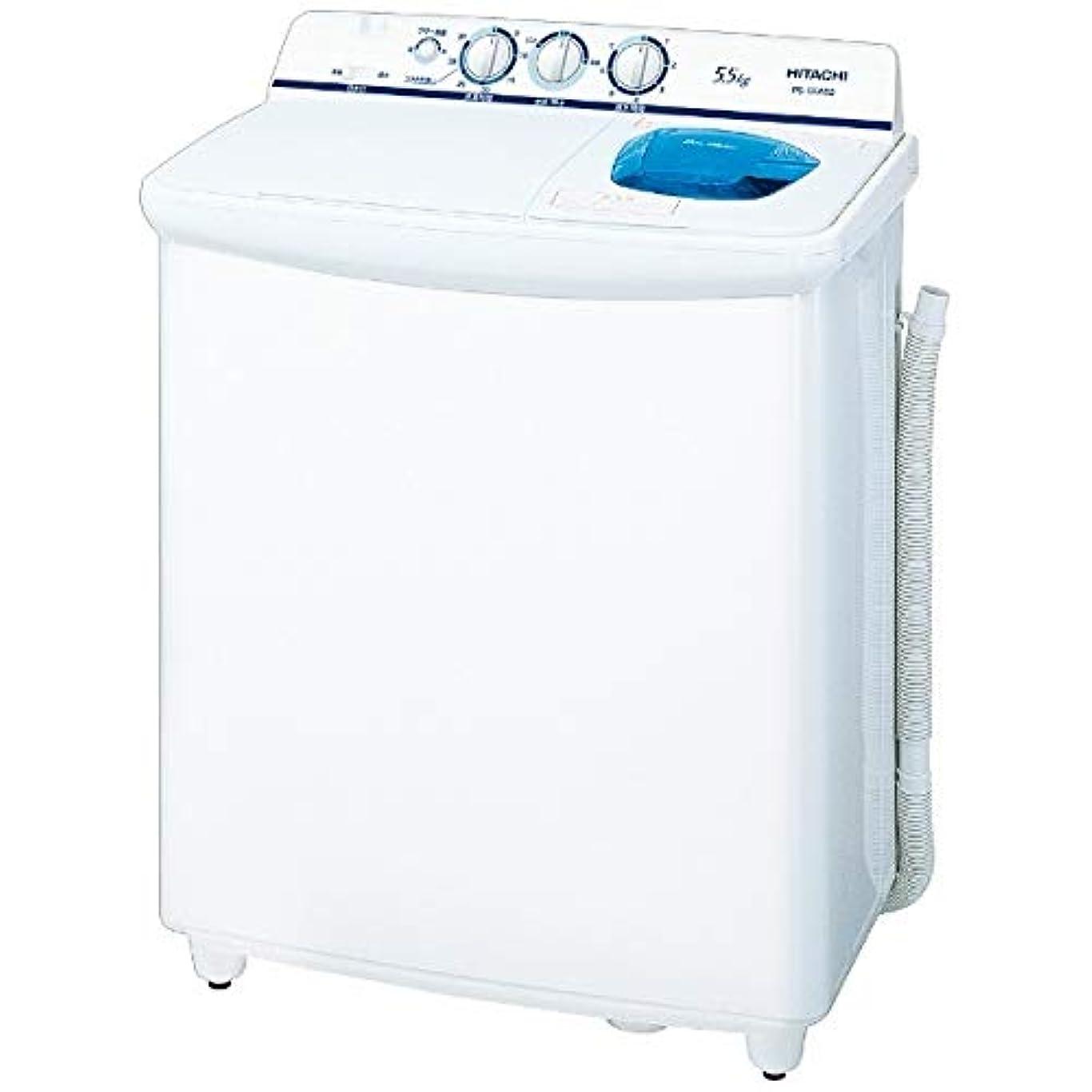 日立 5.5kg 2槽式洗濯機 ホワイトHITACHI 青空 PS-55AS2-W