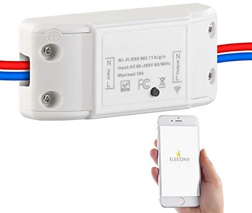 Luminea Home Control WiFi Schalter: WLAN-Schalter für Licht & Co, für Siri, Alexa & Google Assistant, 10A (Alexa Lichtschalter)