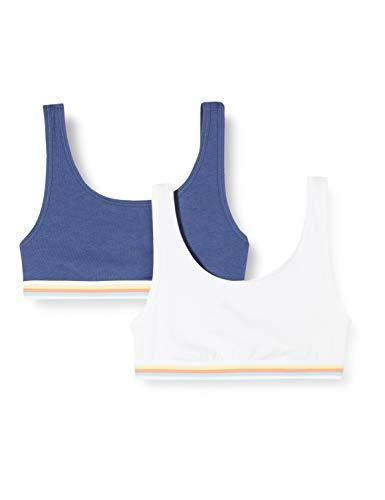 Schiesser Mädchen Multipack 2Pack Bustiers Bustier, Mehrfarbig (Sortiert 5 911), (Herstellergröße: 152)