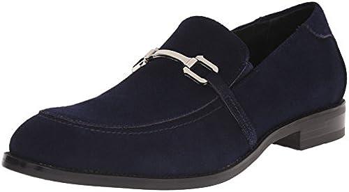 Stacy Adams Men& 039;s Gulliver Slip-On Loafer, Navy Suede, 11.5 M US