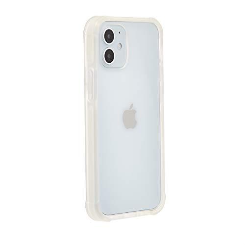 Amazon Basics – Funda para iPhone 12 Mini con protección antigérmenes, TPU (poliuretano termoplástico), TPE (elastómero termoplástico) y PC (policarbonato), blanco puro