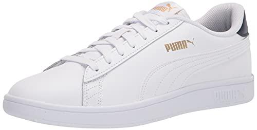 PUMA Smash 2, Scarpe da Ginnastica Uomo, White Peacoat Team Gold, 48.5 EU
