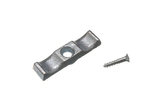 TURN BUTTON GRANNY CATCH SHED LATCH 50MM BZP STEEL + SCREWS ( pack of 2 )