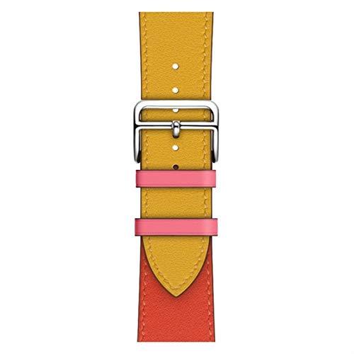 Correa de puño para Apple Watch Band 44 mm 42 mm 40 mm 38 mm Pulsera de cuero Cinturón para iWatch Series 5 4 3 2 1 Reemplazo de correa de reloj