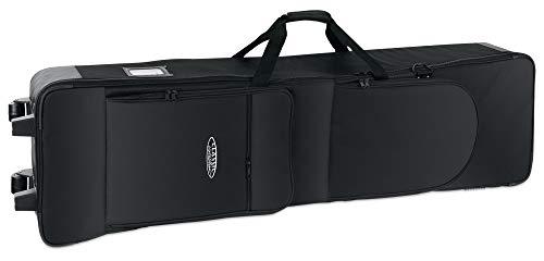 Classic Cantabile Keyboardtasche G2 - mit Trolley-Rollen - 138 x 36,5 x 17 cm - 2 große Außentaschen - schwarz