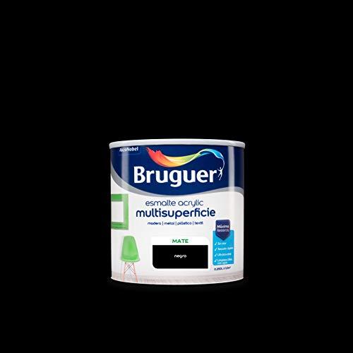 Bruguer Acrylic Multisuperficie Esmalte al agua Mate Negro 250 ml