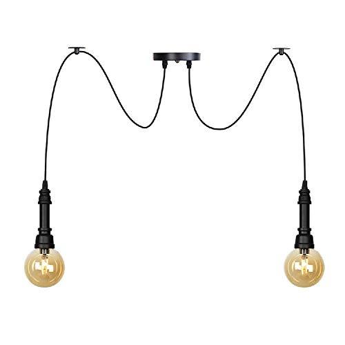 NZDY Barra de Luces Colgantes de Vidrio Creative G4 Base Colgante de Techo Accesorio de Iluminación Tubería de Agua Led Lámpara de Suspensión de Hierro de Metal Vintage Loft Accesorio de Iluminación