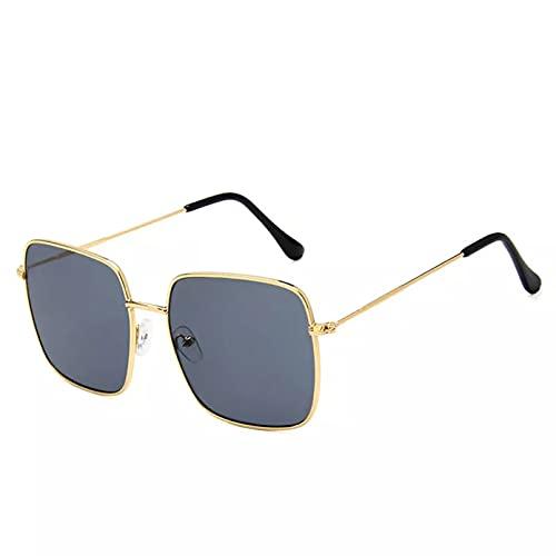 YTYASO Gafas de Sol de Gran tamaño para Mujer, Gafas de Sol cuadradas de Metal para Mujer, Gafas de Sol con Montura de Gran tamaño