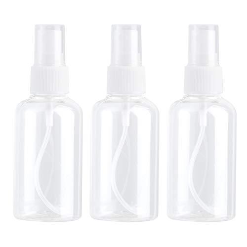 SOIMISS3pcs 75ml Portable Bouteilles de pulvérisation atomiseur de Parfum Transparent de Voyage Rechargeable (Couleur aléatoire)