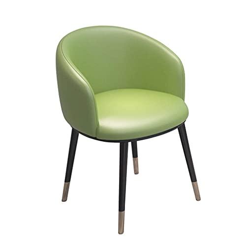 HLY Sillas comerciales, elegantes sillas de comedor con patas de hierro de metal Sillón con respaldo alto Taburete de cuero Salón Oficina Sala de recepción Sofá de maquillaje Mostrador Taburete de as