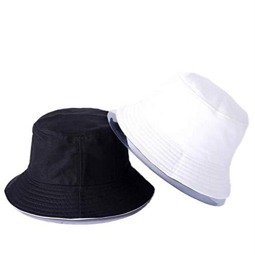 Bucket Hat Chapeau Lettre Broderie Chapeau De Seau Réversible Casquette Deux Côtés Porter Chapeau D'Été Coton Chapeau De Pêche Sports De Plein Air Plage Panama Hommes Adultize Color14