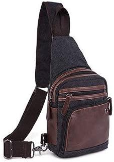 Men's Bags Crossbody Bags - Men Canvas Causal Travel Outdoor Shoulder Crossbody Chest Bag - Black