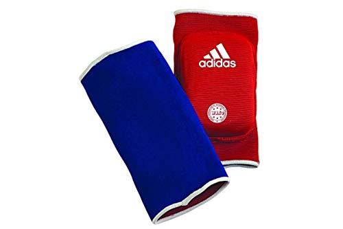 adidas Ellenbogenschoner Kickboxen Elbow Guard Padded Handgelenkschoner, Blau/Rot, One Size