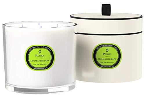 PARKS Extra Large 4 Wick Candle (Lime, Basil & Mandarin)