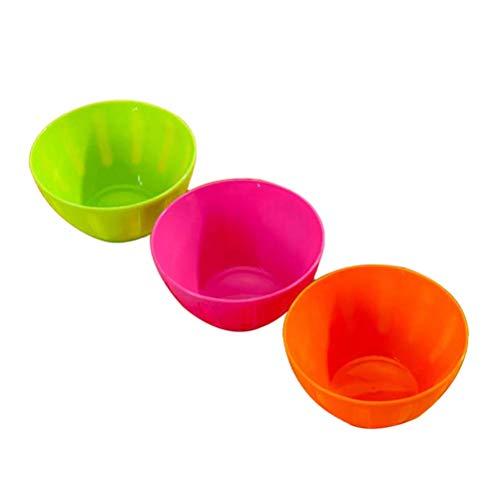 DOITOOL Insalatiere 3 Pezzi Ciotole Cucina di Colorate Riutilizzabili Insalatiere Maschere Viso Condimento Ciotole Casa Ciotole (colore casuale)