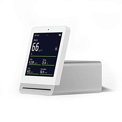 Cleargrass 3,1-Zoll-IPS-Touchscreen-Smart-Luftqualitätsdetektor mit Temperatur und Luftfeuchtigkeit, PM2,5, tVOC, Überwachung des Kohlendioxidwerts (Weiß)