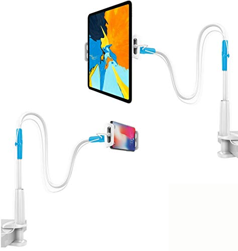 LH Extended Arm Universal Mobile and Tablet Holder with 360° Rotation (White)