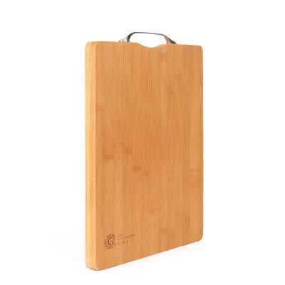 Snijplank, snijplank van bamboe, praktisch, snijplank van stevig bamboe, multifunctioneel, 38 x 28 x 2,4 cm Stijlnaam 39.8 * 29.8 * 2.4cm Kleur: zwart/bruin,