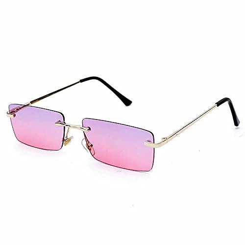 HAOMAO Gafas de sol polarizadas antirreflectantes Uv400 con degradado, rectángulo, montura cuadrada, para mujer 4