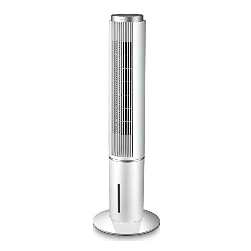 Ventilador de aire acondicionado, Enfriador de aire vertical, Ventilador de torre con remoto, para el hogar y la oficina, Temporizador de 12 horas, Oscilante de 3 velocidades, Con cristales de hi