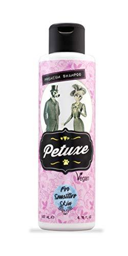 Petuxe Champú Vegano Zero% para Mascotas con Pieles sensibles. Champú Perros. Champú Gatos. Sin sulfatos, sin siliconas, sin Sal.Todas Las Razas (200 ml)