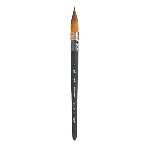 Princeton Aqua Elite NextGen Artist Brush, Series 4850 Synthetic Kolinsky Sable for Watercolor, Quill, Size 6