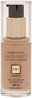 Max Factor Facefinity 3 in 1 Foundation 45, Warm Almond (81377975)