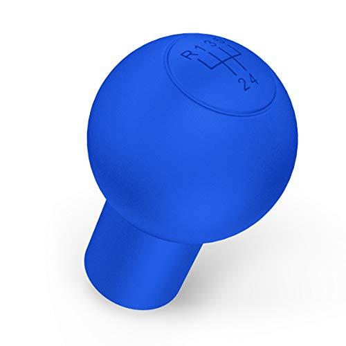 Preisvergleich Produktbild kwmobile Hülle für 5-Gänge Schaltknauf Rund Typ A - Silikon Gang Schaltknüppel Cover Schutzhülle in Blau