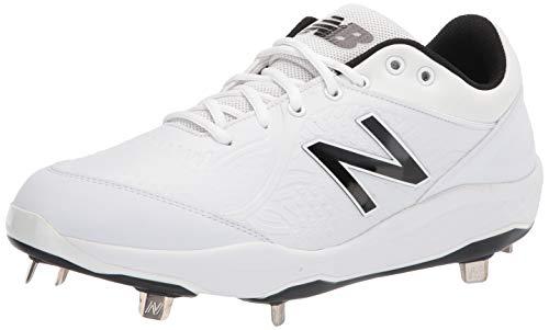 New Balance Men's Fresh Foam 3000 V5 Metal Baseball Shoe, White/White, 12
