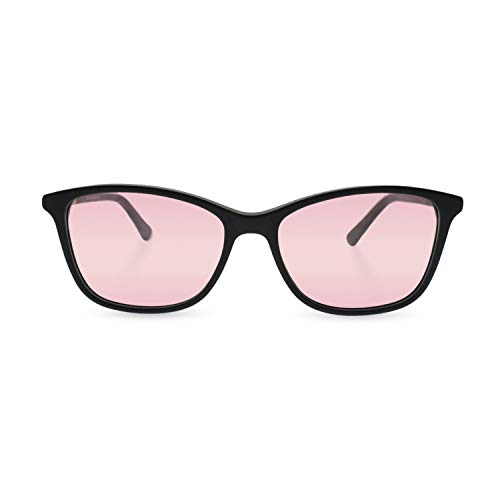 Axon Optics JURA - Migraine Glasses, Relief for Light Sensitivity, Photophobia, Fluorescent Lights (Black, Indoor)
