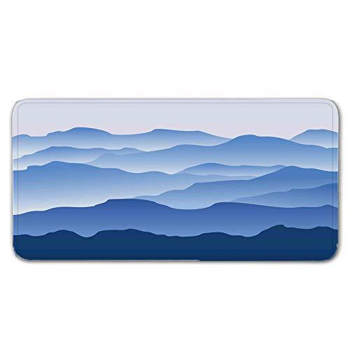 FAIEK Alfombras De Pasillo 80x150cm Largas Moquetas Largo Entrada Felpudos Patrón 3D Anti-desvanecimiento Anti-Sucio Aplicar para Dormitorio Sala Lavable Cortable Nubes Azules