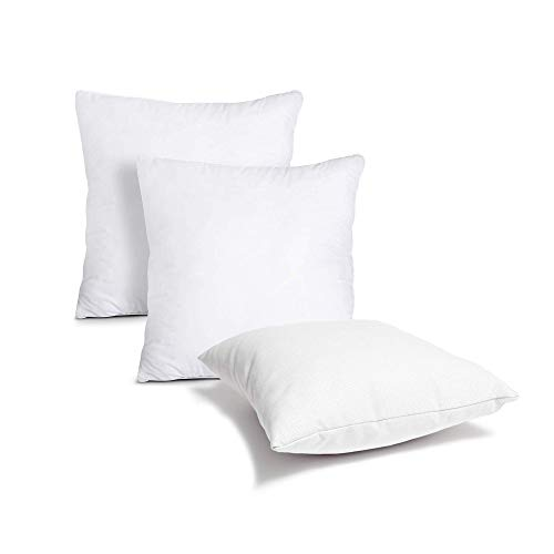 Uswai Cushion Inners Pads (Pack of 6) - Pillow Inserts 18' x 18'(45 x 45 cm)- White Hollowfiber Filling Square Cushion For Sofa and Bed