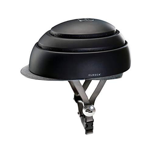 Closca Casco de Bicicleta para Adulto, Plegable Helmet. Casco de Bici y Patinete Eléctrico/Scooter para Mujer y Hombre Unisex. Negro/Talla L. Diseño Patentado