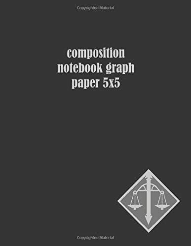 Composition Notebook Graph Paper 5x5: Squared planner gift for Architects, Engineers or Teachers (Libra Grey)