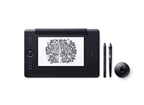 Wacom PTH-660P Intuos Pro M Paper Edition Tableta gráfica con lápiz digital Pro Pen 2 y Finetip Pen / Diseño en papel y digital / Portalápices / Bluetooth / Compatible con Windows y MacOS / Negro