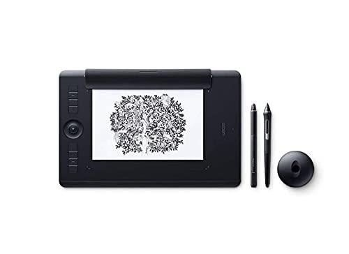 Wacom PTH-660P Intuos Pro M Paper Edition Tableta gráfica con lápiz digital Pro Pen 2 y Finetip Pen / Diseño en papel y digital / Portalápices / Bluetooth / Compatible con Windows y MacOS / Negro