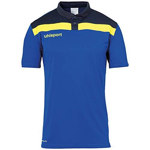 uhlsport Herren Poloshirt Offense 23 Polo Shirt, azurblau/Marine/limonenge, 5XL, 100221314